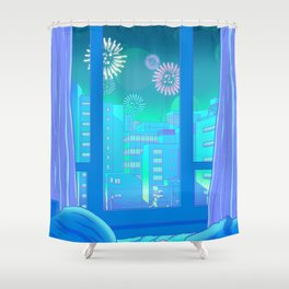 Tokyo Summer Dreams Shower Curtain