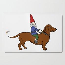 Gnome Riding a Dachshund Cutting Board