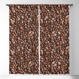 Coffee Bean Photo Pattern Blackout Curtain