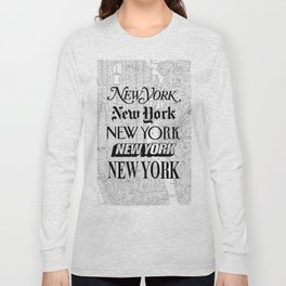 New York City black and white New York poster I love heart NYC Design black-white home wall decor Long Sleeve T-shirt