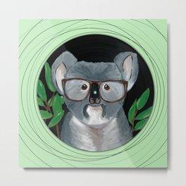 Koala on vinyl Metal Print