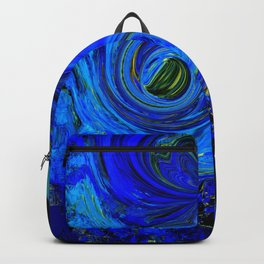 Abstract Blue with a Golden Glow Backpack