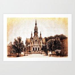 NEOGOTHIC CHURCH OF KRAKOW CITY Art Print