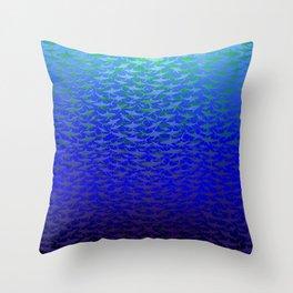 Sharks In Deep Water. Throw Pillow