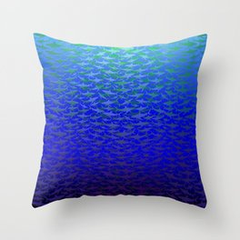 Sharks In Deep Water. Throw Pillow