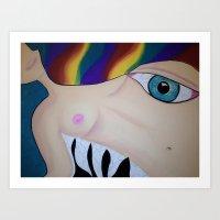 boob Art Prints featuring Boob by Rachel Mueller