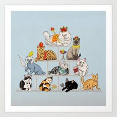 Cats Pyramid Art Print