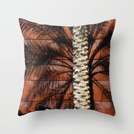 Palm Tree Steel Wall Throw Pillow