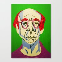 larry david Canvas Prints featuring Larry David 2 by Alyssa Underwood Contemporary Art
