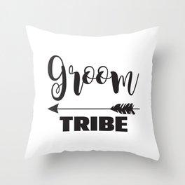 Groom Tribe Arrow Bride Tribe Bridal Party Bridesmaid Groomsmen Bachelor Bachelorette Throw Pillow