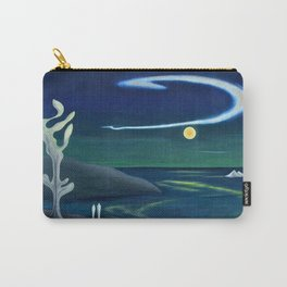 Island Moon before the World coastal island landscape painting by Marguerite Blasingame Carry-All Pouch