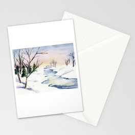 Paysage d'Hiver Stationery Cards