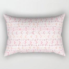 Muted Pink Boho Tribal Chevron Pattern Rectangular Pillow