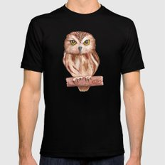 Owl Black MEDIUM Mens Fitted Tee