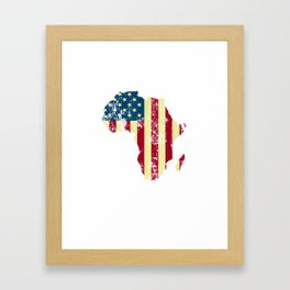 African American USA Flag Patriotic 4th of July Juneteenth T-Shirt Framed Art Print