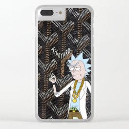 Goyard Tiny Rick Clear iPhone Case