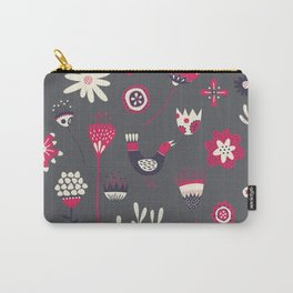 Scandi Floral Dark Carry-All Pouch