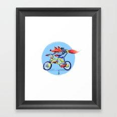 fox bike Framed Art Print