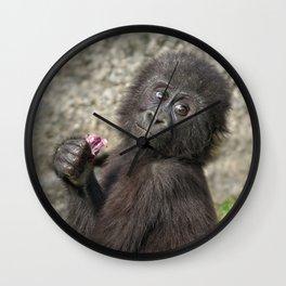 Cute Baby Gorilla Wall Clock