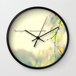 The Pursuit of Perfection Wall Clock