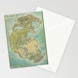 Pangea map Stationery Cards