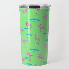 Pink flamingo pattern Travel Mug