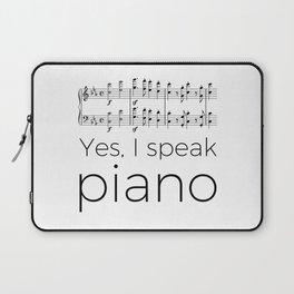 I speak piano Laptop Sleeve