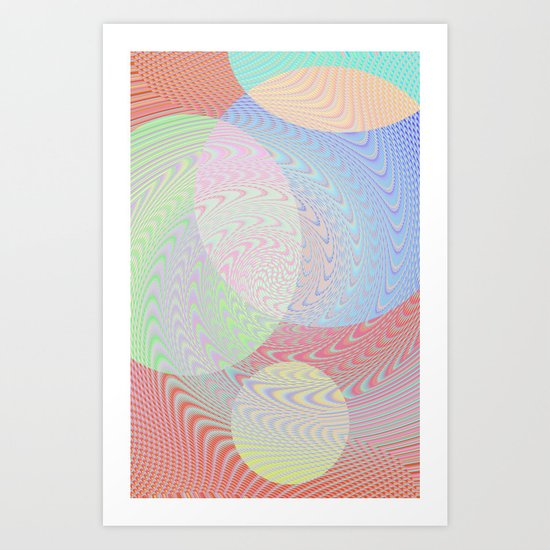 Re-Created Twisters No. 2 by Robert S. Lee Art Print