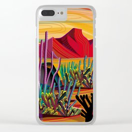 Zen Cactus Garden Clear iPhone Case