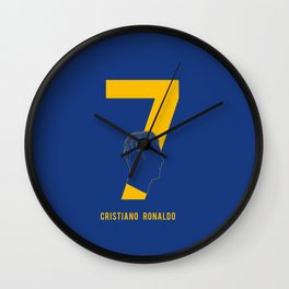 Ronaldo 7 Wall Clock