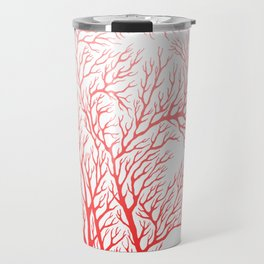 Head Profile Branches - Red Travel Mug