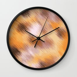 brown orange and black painting texture abstract background Wall Clock
