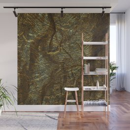 Gold and copper glitter wall Wall Mural
