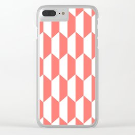 Classic Trapezoid Pattern 237 Coral Clear iPhone Case