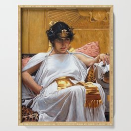 Cleopatra - John William Waterhouse Serving Tray