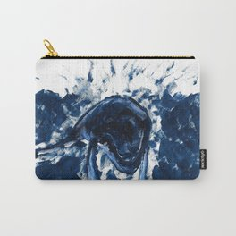 Humpback whale Blue Carry-All Pouch