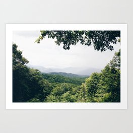 The Great Smoky Mountains Gatlinburg Tennessee Art Print