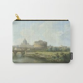 Pierre Antoine Demachy - View Of The Castel Santangelo In Rome. Carry-All Pouch