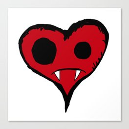 Heart Vampire Canvas Print