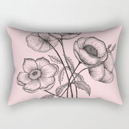Palid Flowers  Rectangular Pillow