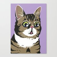 lil bub Canvas Prints featuring Lil Bub by Noelle Posadas