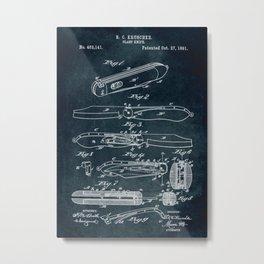 1981 - Clasp Knife patent art Metal Print
