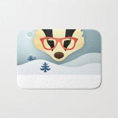 Winter Badger Bath Mat