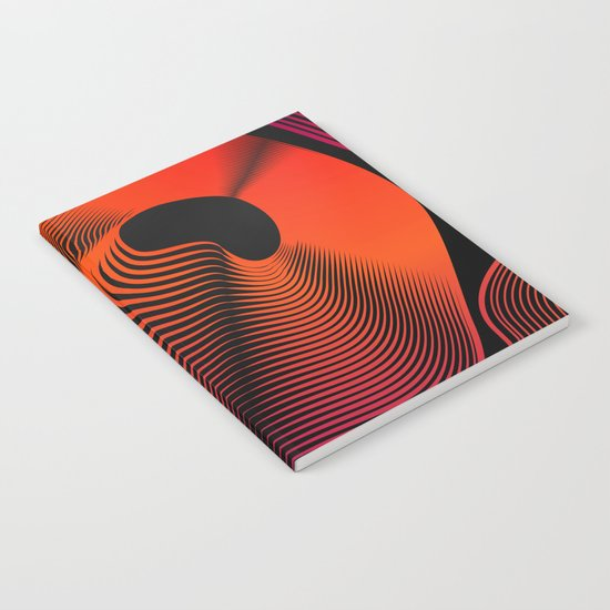 Abstract Moire Notebook