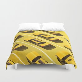 New York Cabs Duvet Cover