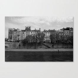 Seine riverbank, Paris. Canvas Print