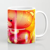 """arnold Mugs featuring """"Arnold"""" by shiva camille"""