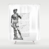 david fleck Shower Curtains featuring David  by lllg
