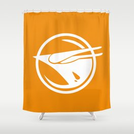 Rebel Phoenix orange Shower Curtain