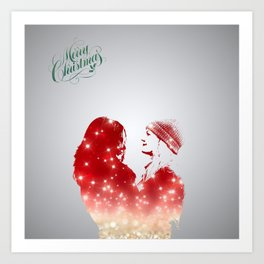 SwanQueen Christmas Edition Art Print
